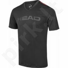 Marškinėliai tenisui Head Transition T4S V-Neck Shirt M 811306-BK