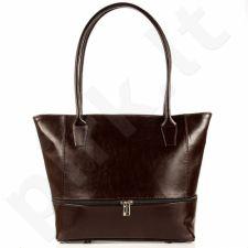 DAN-A T297 tamsiai ruda rankinė moterims odinė