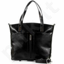 DAN-A T298 juoda rankinė moterims odinė