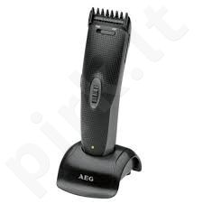 AEG HSM/R 5596 Hair and Beard Trimmer, Adjustable cutting length: 3-16 mm in 1-9 steps, Includes 4 accessories, Black