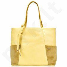 Rankinė moteriška shopper Felice Bonita FB03 geltona