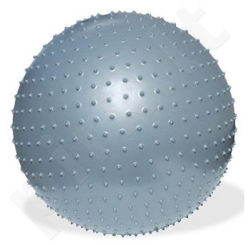 Dygliuotas gimnastikos kamuolys su pompa Meteor, 75 cm