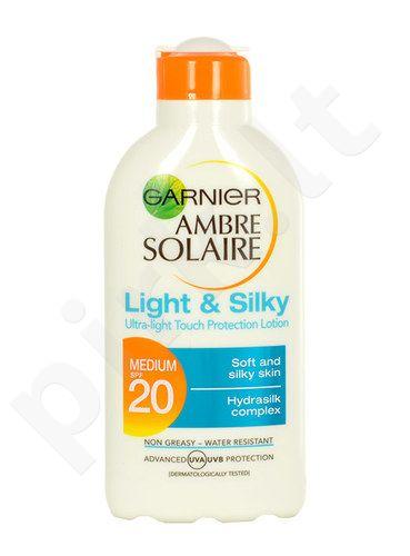 Garnier Ambre Solaire Light & Silky SPF20 Lotion, kosmetika moterims, 200ml