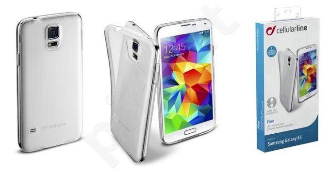 Samsung Galaxy S5 dėklas FINE Cellular permatomas