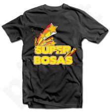 """Marškinėliai """"SUPER BOSAS"""" (spalvoti)"""