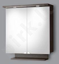 Pakabinama vonios spintelė su veidrodinėmis durimis, apšvietimu ir rozete Riva SV 65-11 dark