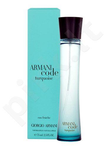 Giorgio Armani Code Turquoise, Eau de Fraiche moterims, 75ml