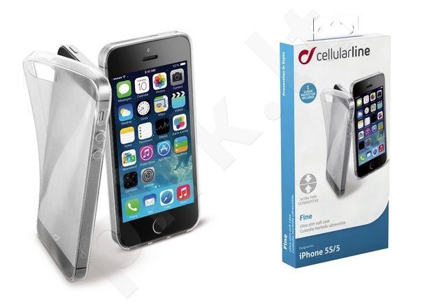 Apple iPhone 5 dėklas FINE Cellular permatomas