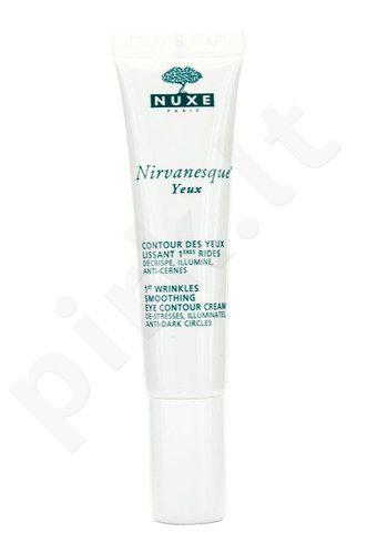 Nuxe Nirvanesque 1st Wrinkles Smoothing akių kremas, kosmetika moterims, 15ml