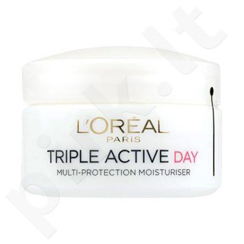 L´Oreal Paris Triple Active dieninis kremas Dry Skin, kosmetika moterims, 50ml