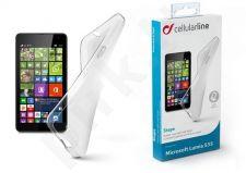 Nokia 535 Lumia dėklas SHAPE Cellular permatomas