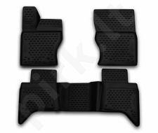 Guminiai kilimėliai 3D LAND ROVER Range Rover 2015->, 3 pcs. /L40005