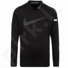 Marškinėliai termoaktyvūs Nike Pro Warm LS Mock GFX Junior 856134-010