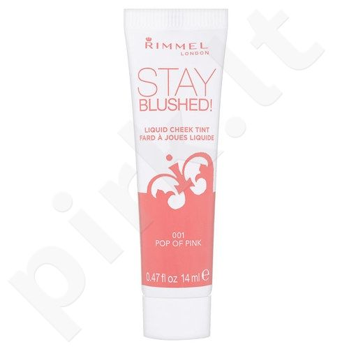 Rimmel London Stay skaistalai, kosmetika moterims, 14ml, (001 Pop Of Pink)