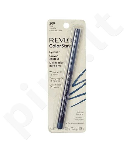 Revlon Colorstay akių kontūrų priemonė Pencil, kosmetika moterims, 0,28g, (209 Teal)