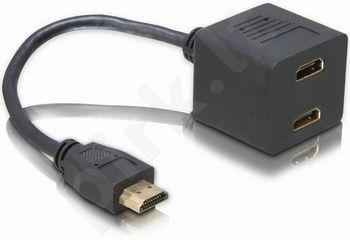 Delock adapteris HDMI->2x HDMI