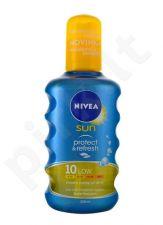 Nivea apsauga nuo saulės & Refresh purškiklis SPF10, kosmetika moterims, 200ml