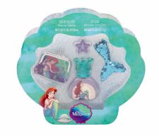 Disney Princess The Little Mermaid, rinkinys tualetinis vanduo vaikams, (EDT 30 ml + Lip Shine 2,5 g + piniginė + raktų pakabukas)