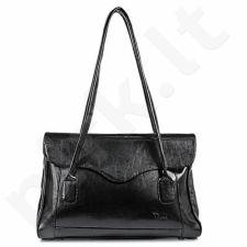 DAN-A T41 juoda rankinė iš natūralios odos , moteriška