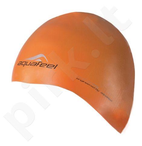 Kepuraitė plaukimui AQF silikoninė 3046 34 neon orange