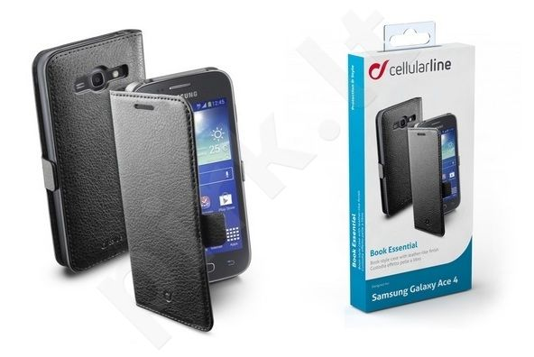 Samsung Galaxy Ace 4 dėklas BOOK ESSEN Cellular juodas