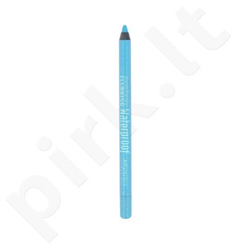 BOURJOIS Paris Contour Clubbing atsparus vandeniui akių kontūrų pieštukas, kosmetika moterims, 1,2g, (63 Sea Blue Soon)