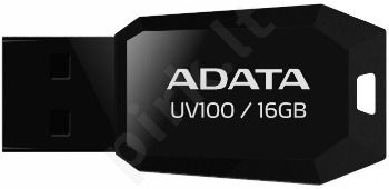 Atmintukas Adata DashDrive UV100 16GB Juodas, Slim design: storis vos 5.8mm