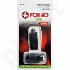 Švilpukas FOX 40 Pearl + virvutė 9703-0008 juoda