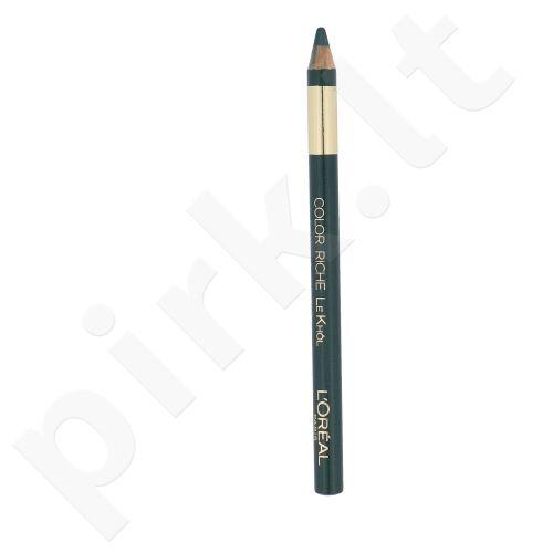 L´Oreal Paris Color Riche Le Khol akių kontūrų pieštukas, kosmetika moterims, 1,2g, (116 Rainforest Green)