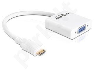 Delock adapteris HDMI MINI-C(M)->VGA(F)
