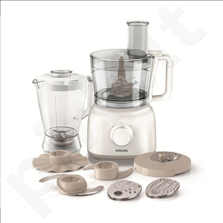 PHILIPS HR7628/00 Food processor, 650W, 2 speeds and pulse functions, 7 accessories, Blender jar size: 1.75L