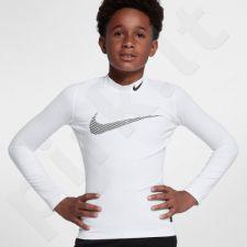 Marškinėliai termoaktyvūs Nike Pro Warm LS Mock GFX Junior 856134-100