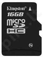 Atminties kortelė Kingston microSDHC 16GB CL4