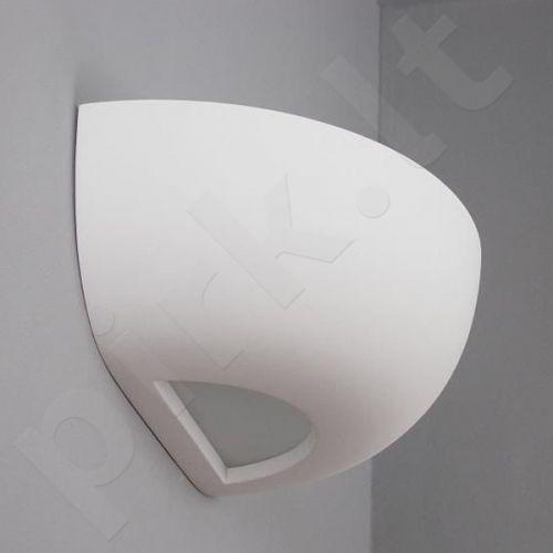 Sieninis šviestuvas gipsinis 10-MISA stiklas