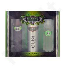 Cuba Green rinkinys vyrams, (EDT 100ml + 200ml dezodorantas + 100ml losjonas po skutimosi water)
