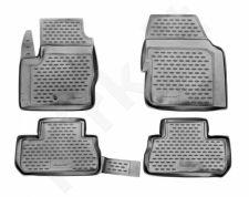 Guminiai kilimėliai 3D LAND ROVER Freelander 2007-2012, 4 pcs. /L40019G /gray