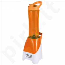 Adler AD 4054 Personal blender, 2x600ml cups, Convenient cup cap with a spout, Power 250W, Orange