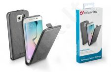 Samsung Galaxy S6 EDGE dėklas FLAP ESSEN Cellular juodas