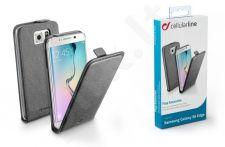 Samsung Galaxy S6 EDGE dėklas FLAP ESSEN Cellular juodas