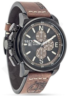 Laikrodis SECTOR   450 Chr Black Dial /Brown Strap