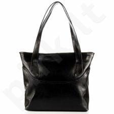 DAN-A T292 juoda rankinė moterims natūralios odos