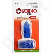 Švilpukas FOX 40 Pearl + virvutė 9703-0508 mėlynas