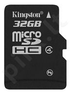 Atminties kortelė Kingston microSDHC 32GB CL4