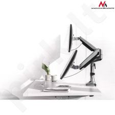 Maclean MC-766 Desk handle for two monitors with USB 3.0 13 ''-32'' spring 9kg