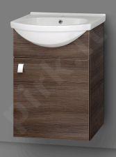 Apatinė pakabinama vonios spintelė SA 50A-11 dark su  praustuvu Riva 50A