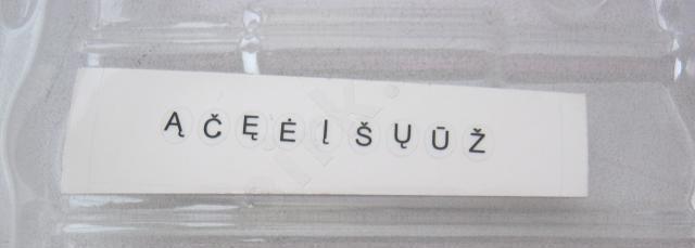 Lietuviškų raidžių lipdukai klaviatūrai