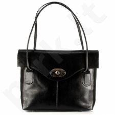 DAN-A T293 juoda rankinė moterims natūralios odos