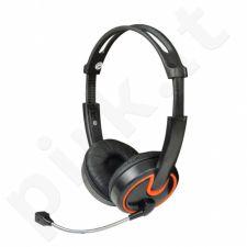 Stereo ausinės su mikrofonu MSONIC Garsumo valdymas MH563KO juoda-oranžinis