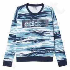 Bliuzonas  Adidas Essentials Linear Sweatshirt All Over Print W AY4882
