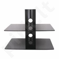 ART Sieninis Double Shelf D-50N 20KG to DVD/TUNER black